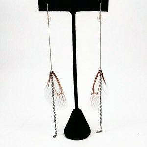 925 Moth Fairy Thread Earrings